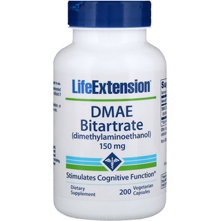 Life Extension, DMAE Bitartrate, 150 mg, 200 Vegetarian Capsules