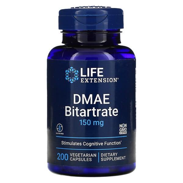 DMAE Bitartrate, 150 mg, 200 Vegetarian Capsules