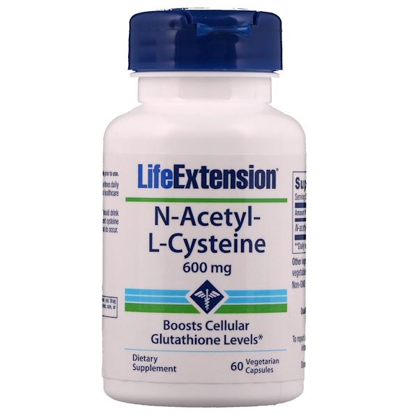 Life Extension, N-Acetyl-L-Cysteine, 600 mg, 60 Vegetarian Capsules