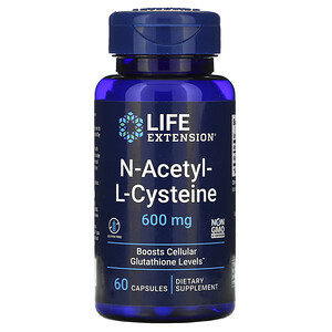 Лайф Экстэншн, N-Acetyl-L-Cysteine, 600 mg, 60 Capsules отзывы покупателей