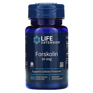 Life Extension, 佛司可林,10 毫克,60 粒素食膠囊