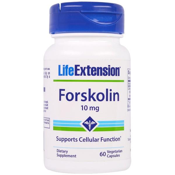 Life Extension, Forskolin, 10 mg, 60 vegetarische Kapseln