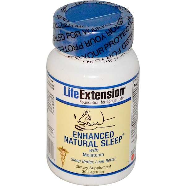 Life Extension, Enhanced Natural Sleep, 30 Capsules