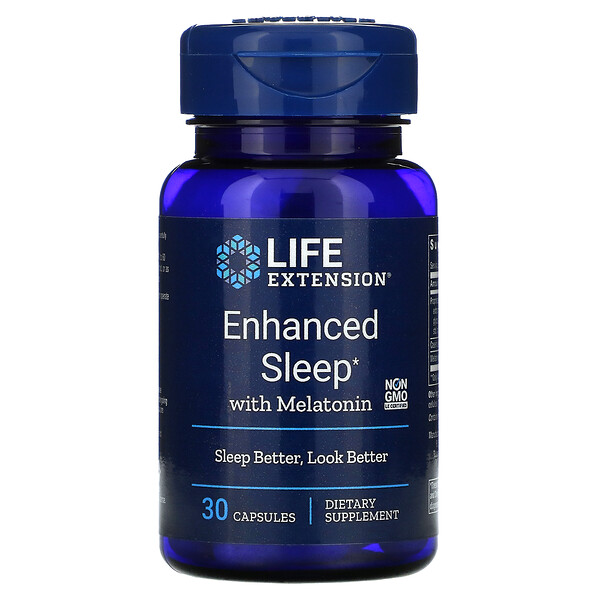 Enhanced Sleep with Melatonin, 30 Capsules
