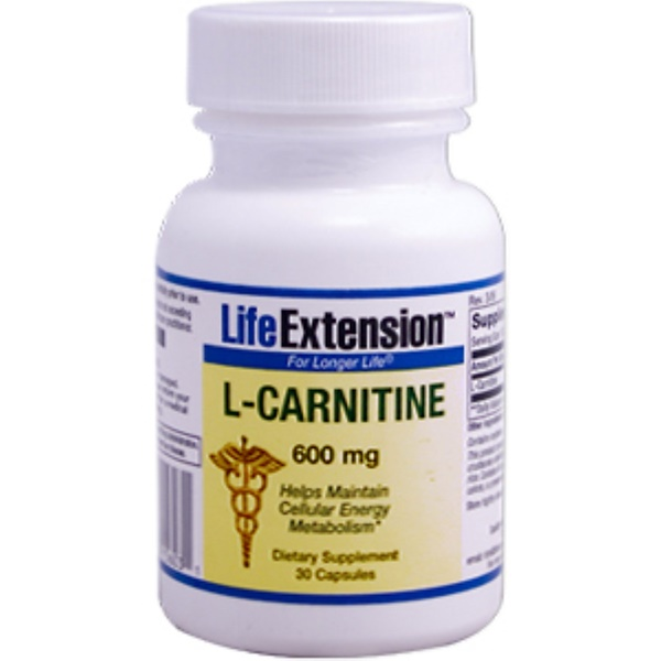 Life Extension, L-Carnitine, 600 mg, 30 Capsules (Discontinued Item)