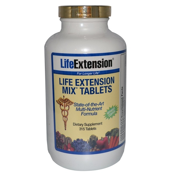 Life Extension, Life Extension Mix Tablets without Copper, 315 Tablets (Discontinued Item)