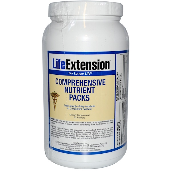 Life Extension, Comprehensive Nutreint Packs, 30 Packets (Discontinued Item)
