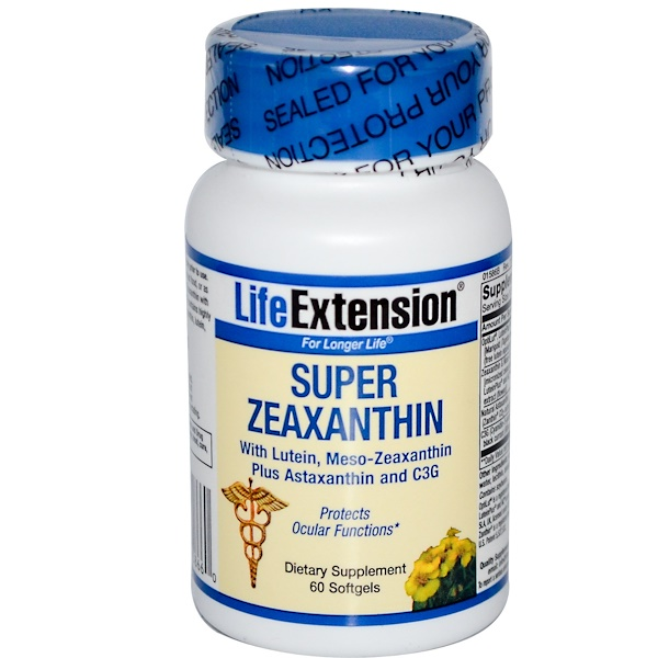 Life Extension, Super Zeaxanthin, 60 Softgels (Discontinued Item)