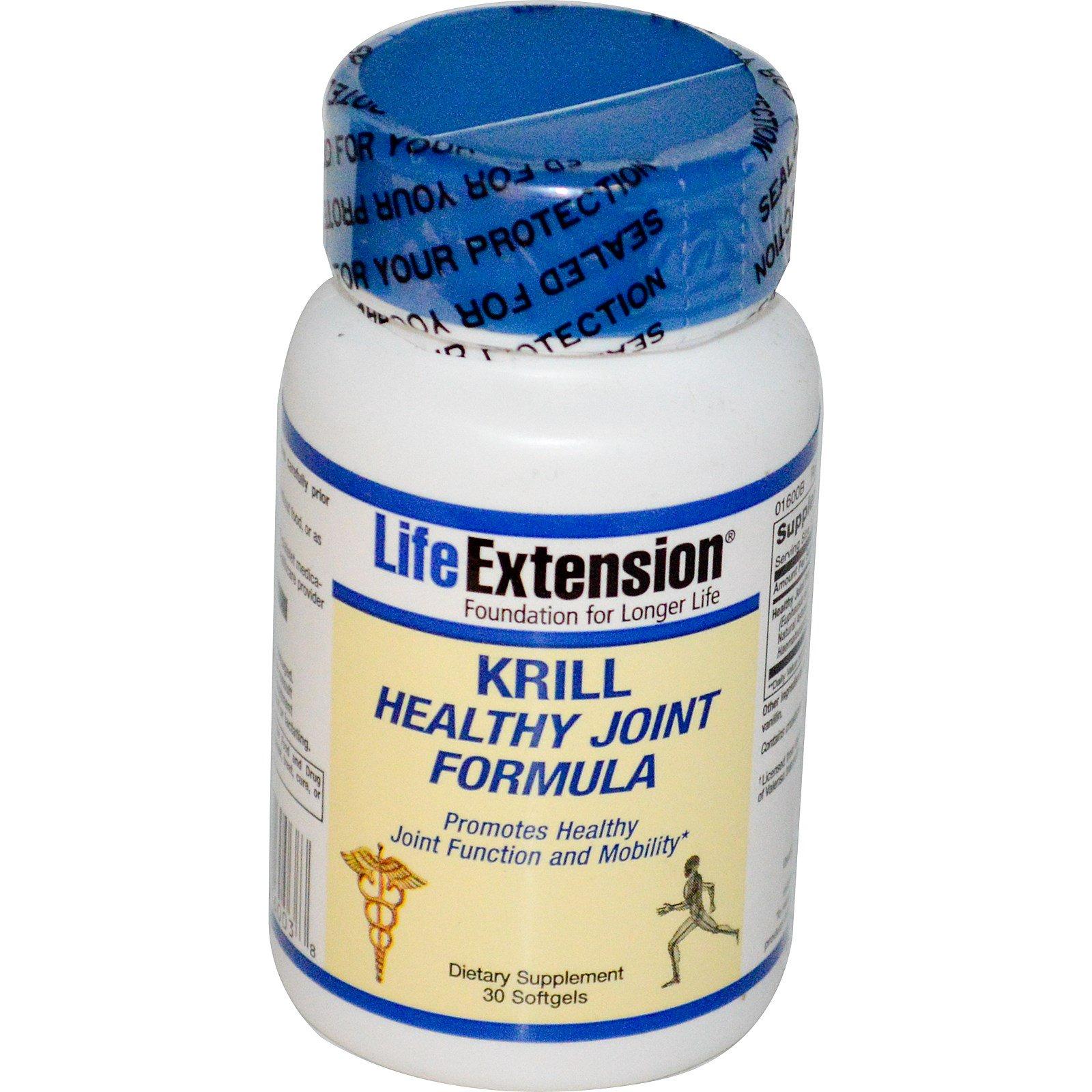 Life Extension, Формула здоровых суставов из криля, 30 капсул