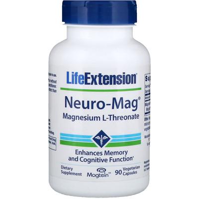 Купить Neuro-Mag, магний L-треонат, 90 капсул в растительной оболочке