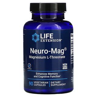 Life Extension, Neuro-Mag, магний L-треонат, 90вегетарианских капсул