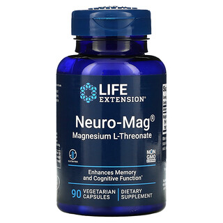Life Extension, Neuro-Mag L-蘇糖酸鎂素食膠囊,90 粒