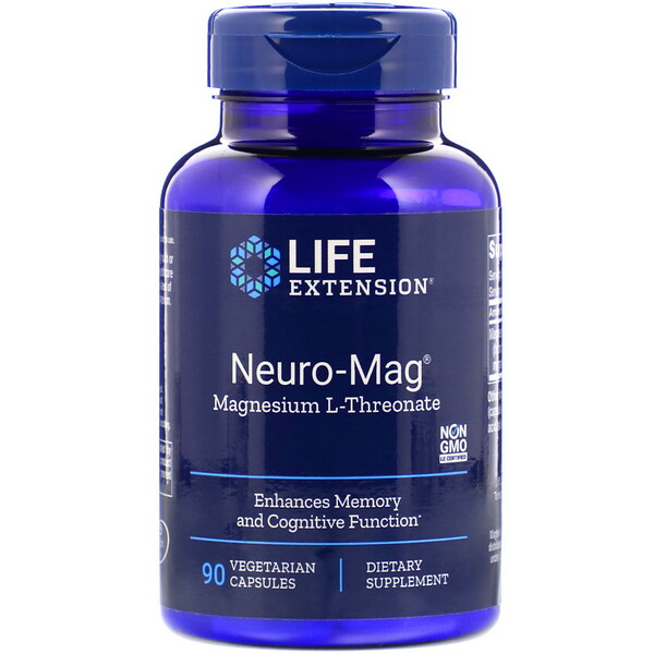 Life Extension, Neuro-Mag, Magnesium L-Threonate, 90 Vegetarian Capsules