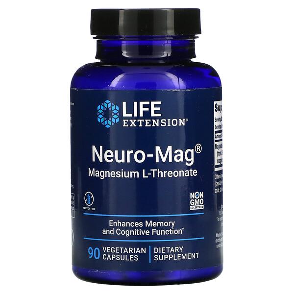 Neuro-Mag, Magnesium L-Threonate, 90 Vegetarian Capsules