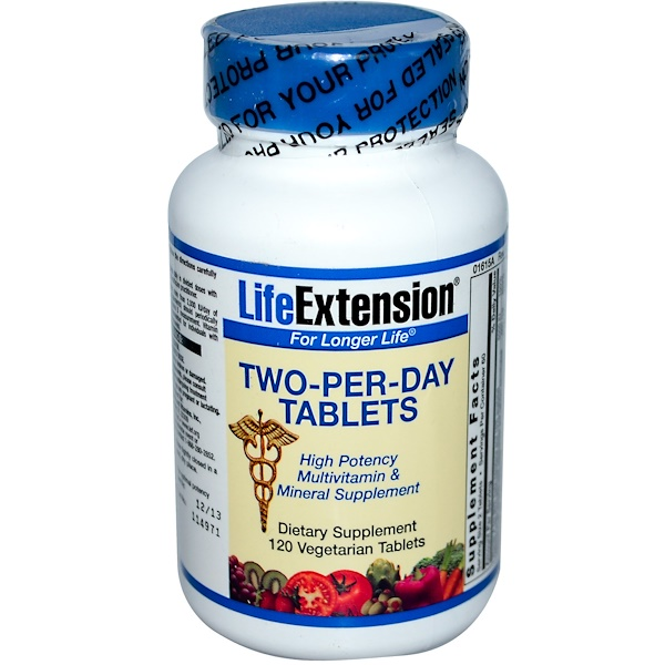 Life Extension, Two-Per-Day Tablets, 120 Veggie Tabs (Discontinued Item)