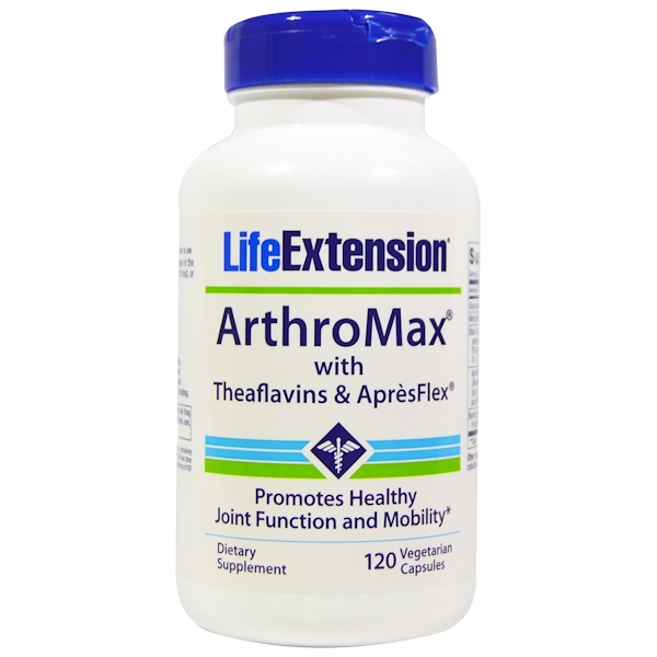Life Extension, ArthroMax With Theaflavins and ApresFlex, 120 Veggie Caps