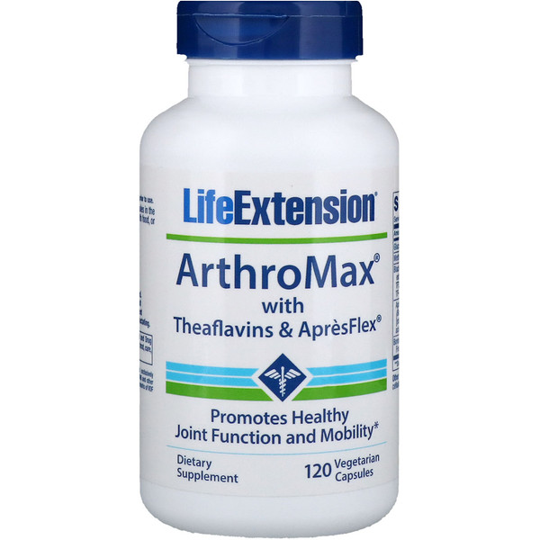 Life Extension, ArthroMax with Theaflavins and ApresFlex, 120 Vegetarian Capsules