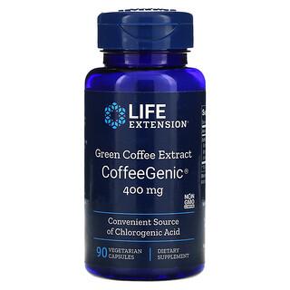Life Extension, CoffeeGenic, Rohkaffee-Extrakt, 400 mg, 90 vegetarische Kapseln