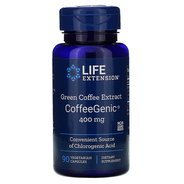 CoffeeGenic, Green Coffee Extract, 400 mg, 90 Vegetarian Capsules