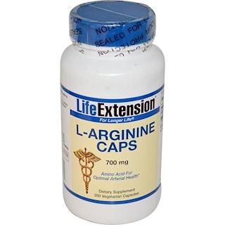 Life Extension, L-Arginine Caps, 700 mg, 200 Veggie Caps