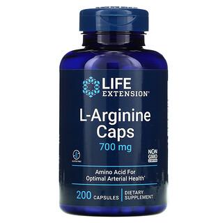 Life Extension, L-Arginine Caps, 700 mg, 200 Capsules