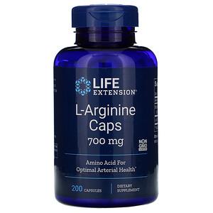 Лайф Экстэншн, L-Arginine Caps, 700 mg, 200 Capsules отзывы покупателей