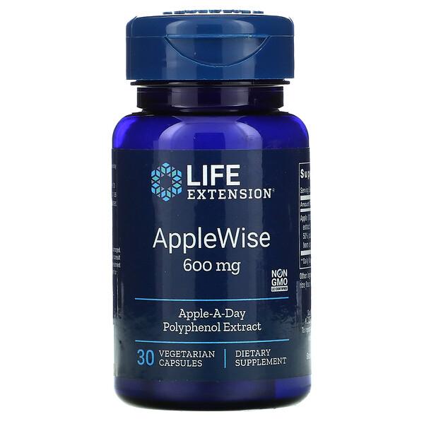 AppleWise, 600 mg, 30 Vegetarian Capsules