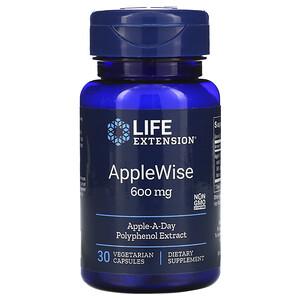 Лайф Экстэншн, AppleWise, 600 mg, 30 Vegetarian Capsules отзывы