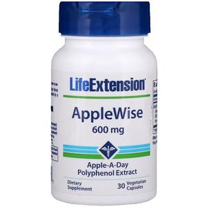 Лайф Экстэншн, AppleWise, Polyphenol Extract, 600 mg, 30 Veggie Caps отзывы