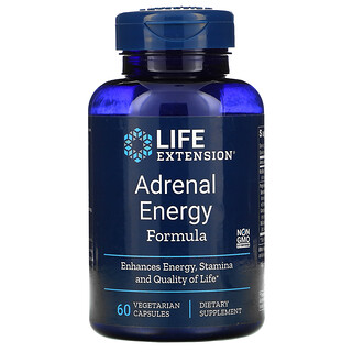 Life Extension, 腎上腺能量配方,60 粒素食膠囊。