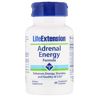 Life Extension, Adrenal Energy Formula, 60 Vegetarian Capsules