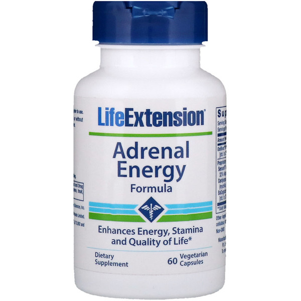 Life Extension, Adrenal Energy Formula, 60 Veggie Caps (Discontinued Item)