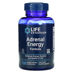 Life Extension, 腎上腺能量配方,120 粒素食膠囊。