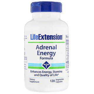 Life Extension, Adrenal Energy Formula, 120 Vegetarian Capsules
