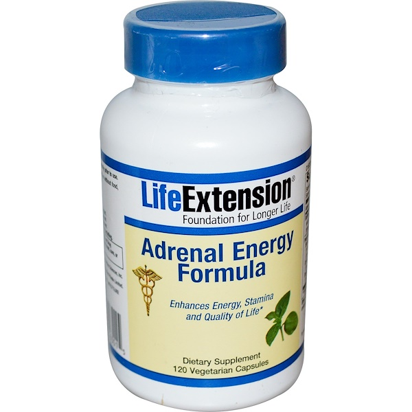 Life Extension, Adrenal Energy Formula, 120 Veggie Caps