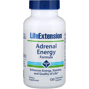 Лайф Экстэншн, Adrenal Energy Formula, 120 Veggie Caps отзывы покупателей