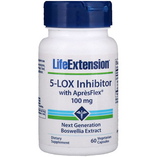 Life Extension, 5-Lox Inhibitor with ApresFlex, 100 mg, 60 Vegetarian Capsules