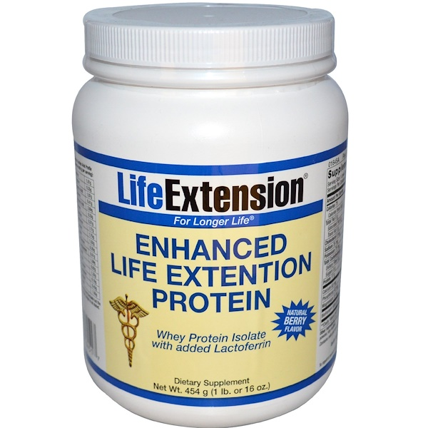 Life Extension, Enhanced Life Extension Protein, Natural Berry Flavor, 16 oz (454 g) (Discontinued Item)