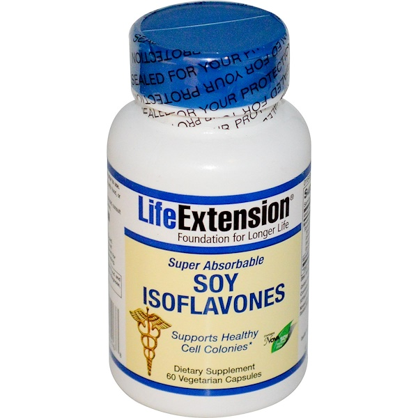 Life Extension, Soy Isoflavones, Super Absorbable, 60 Veggie Caps