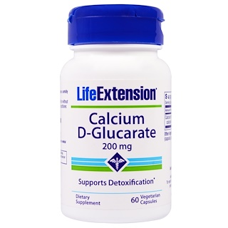 Life Extension, Calcium D-Glucarate, 200 mg, 60 Veggie Caps