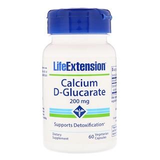 Life Extension, كالسيوم دي- جلوكارات، 200 مجم، 60 كبسولة نباتية