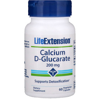 Life Extension, Calcio D-glucarato, 200 mg, 60 cápsulas vegetales