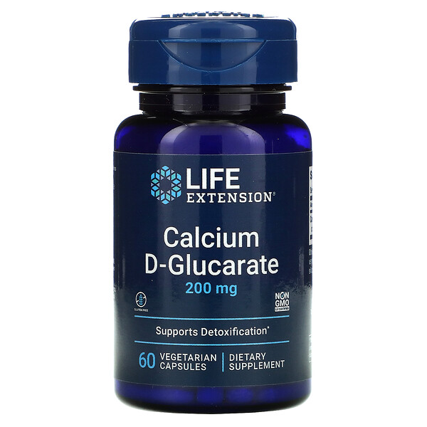 Calcium D-Glucarate, 200 mg, 60 Vegetable Capsules