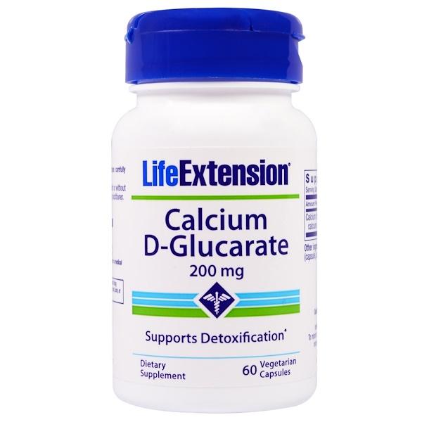 Life Extension, Calcium D-Glucarate, 200 mg, 60 Veggie Caps