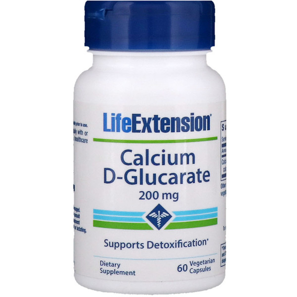 Life Extension, Calcium D-Glucarate, 200 mg, 60 Vegetable Capsules
