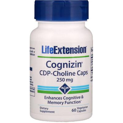Cognizin, капсулы с CDP-холином, 250 мг, 60 вегетарианских капсул citicoline cdp choline 250 мг 60 капсул