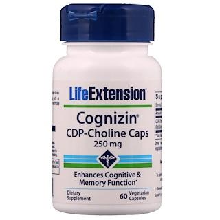 Life Extension, Cognizin, CDP-Choline Caps, 250 mg, 60 Veggie Caps