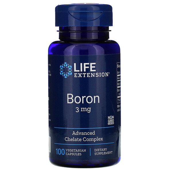 Life Extension, Boro, 3 mg, 100 cápsulas vegetarianas