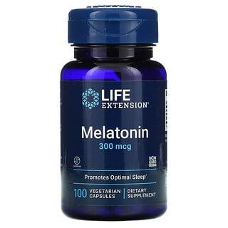 Life Extension, Melatonina, 300 mcg, 100 cápsulas vegetarianas