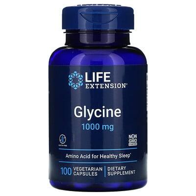 Купить Life Extension глицин, 1000мг, 100вегетарианских капсул
